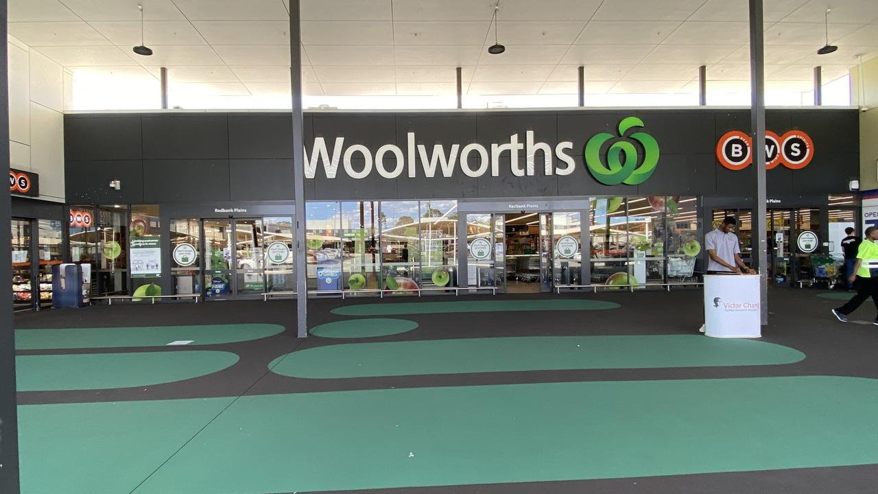 Woolworths at Town Square Shopping Centre, where the incident is alleged to have happened.
