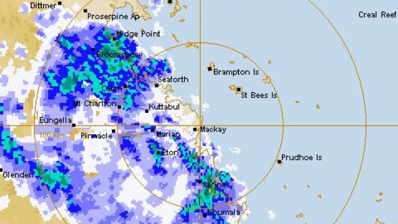 Mackay rain radar from Bureau of Meteorology