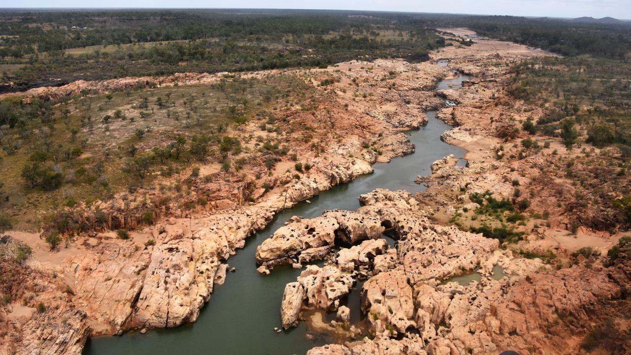The site of the proposed Big Rocks Weir on the Burdekin River, north of Charters Towers.