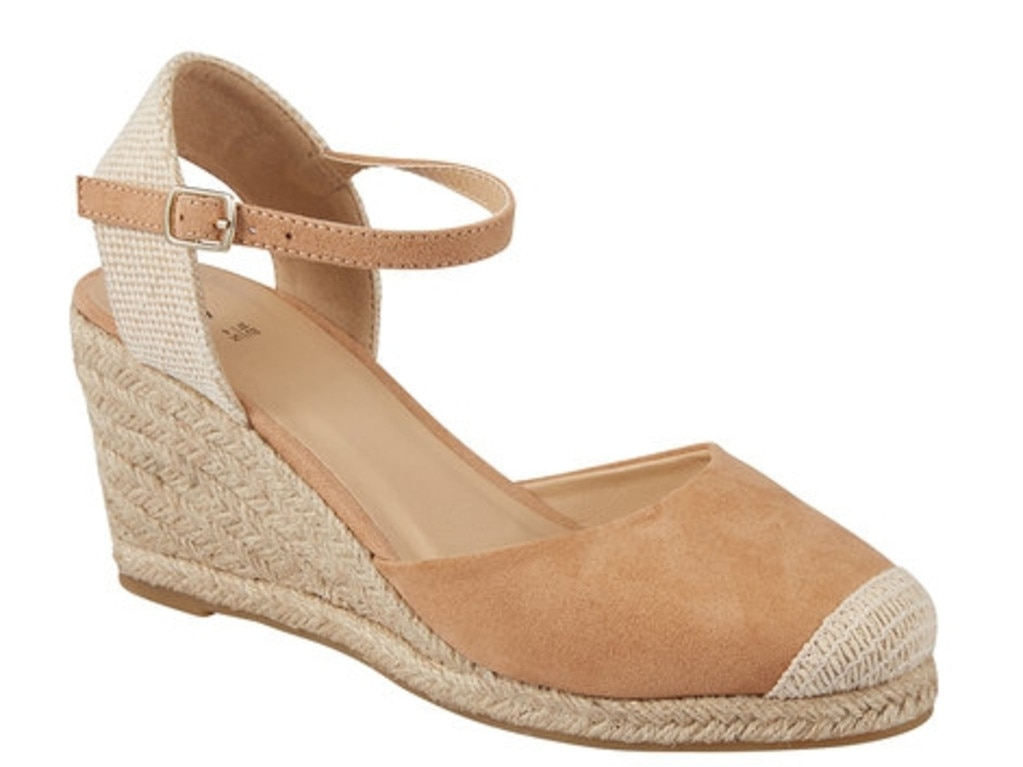 Kmart espadrilles team perfectly with summer dresses ($20).