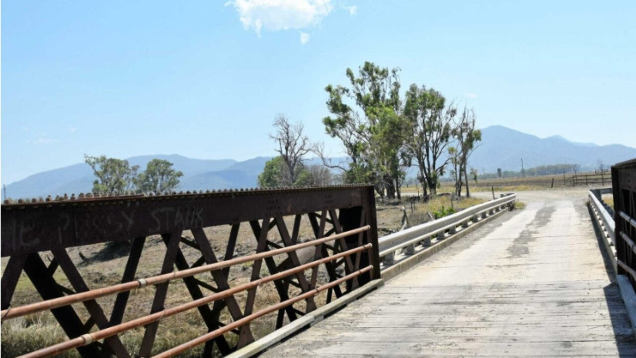 The historic Gavial Creek bridge will be replaced.