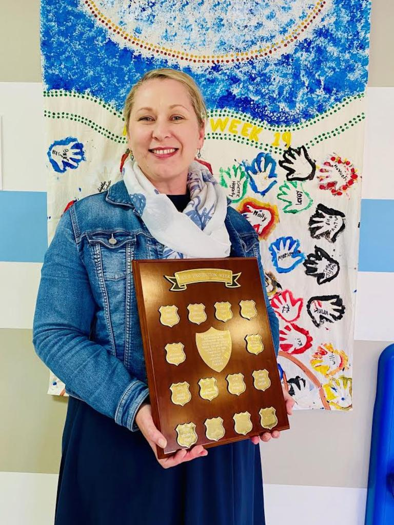 Melissa Venn from South Burnett Child Safety received the Leadership Award. Photo/Kimberley Francis