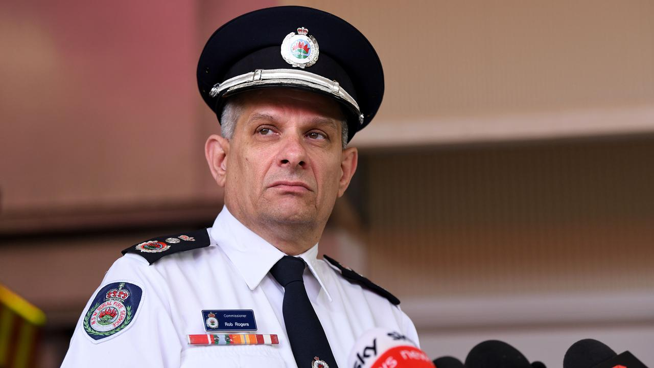 NSW RFS Commissioner Rob Rogers. Picture: Bianca De Marchi/NCA NewsWire