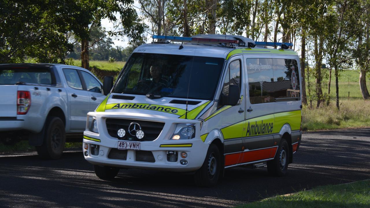 Paramedics have transported a young man to Kingaroy Hospital after a single-vehicle crash at Nanango. File Photo.