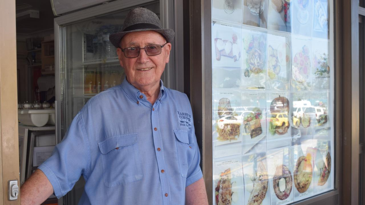 Harry's Corner Cafe owner Harry Schneider welcomed a facade improvement policy, but said it would be more important to improve the atmosphere of the town through schemes like live music and events. Picture: Laura Thomas