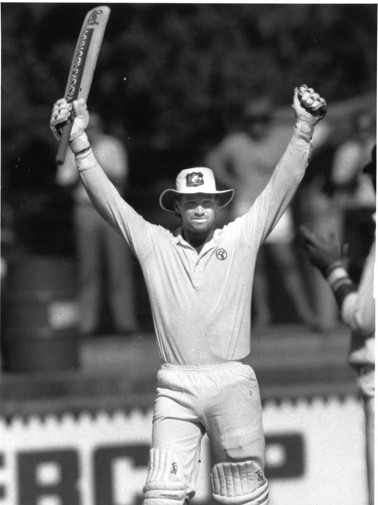Jones celebrates at the Oval in 1990