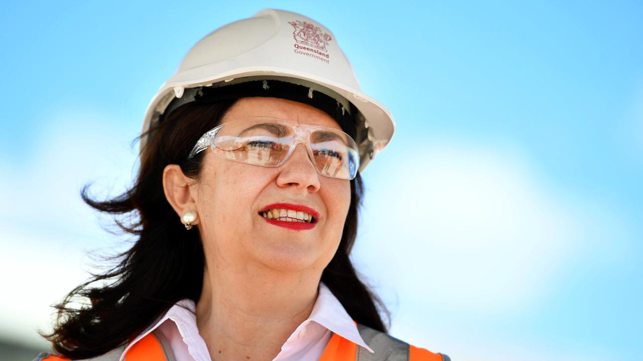 Queensland Annastacia Palaszczuk in Townsville at Glencore Copper Refinery to announce the governmentÕs North Queensland Recovery Plan. Picture: Alix Sweeney