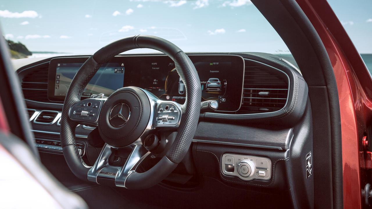 Inside the GLE is extremely luxurious.