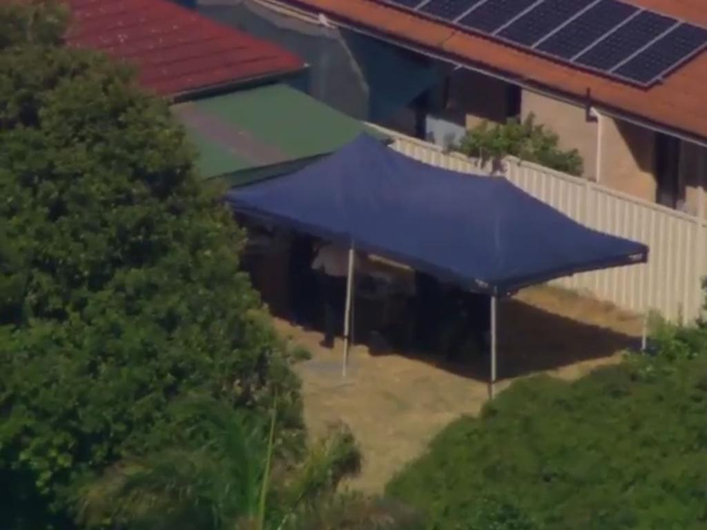 The scene of the arrest of a suspect in the Claremont serial killings in Perth. Picture: Seven News