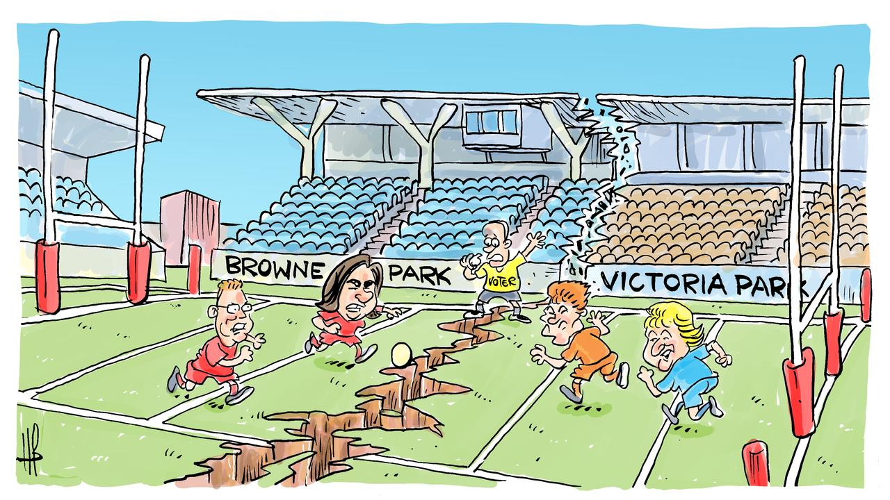 Harry's view on Browne Park stadium funding announcement.