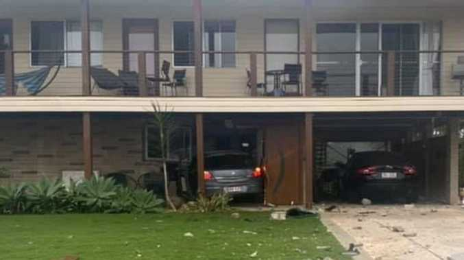 Gladstone couple dodges tragedy as car ploughs into house