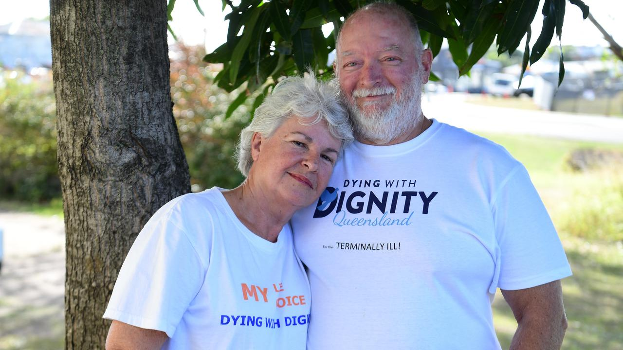 DYING WITH DIGNITY: Moya Jackson and Mark Herron.