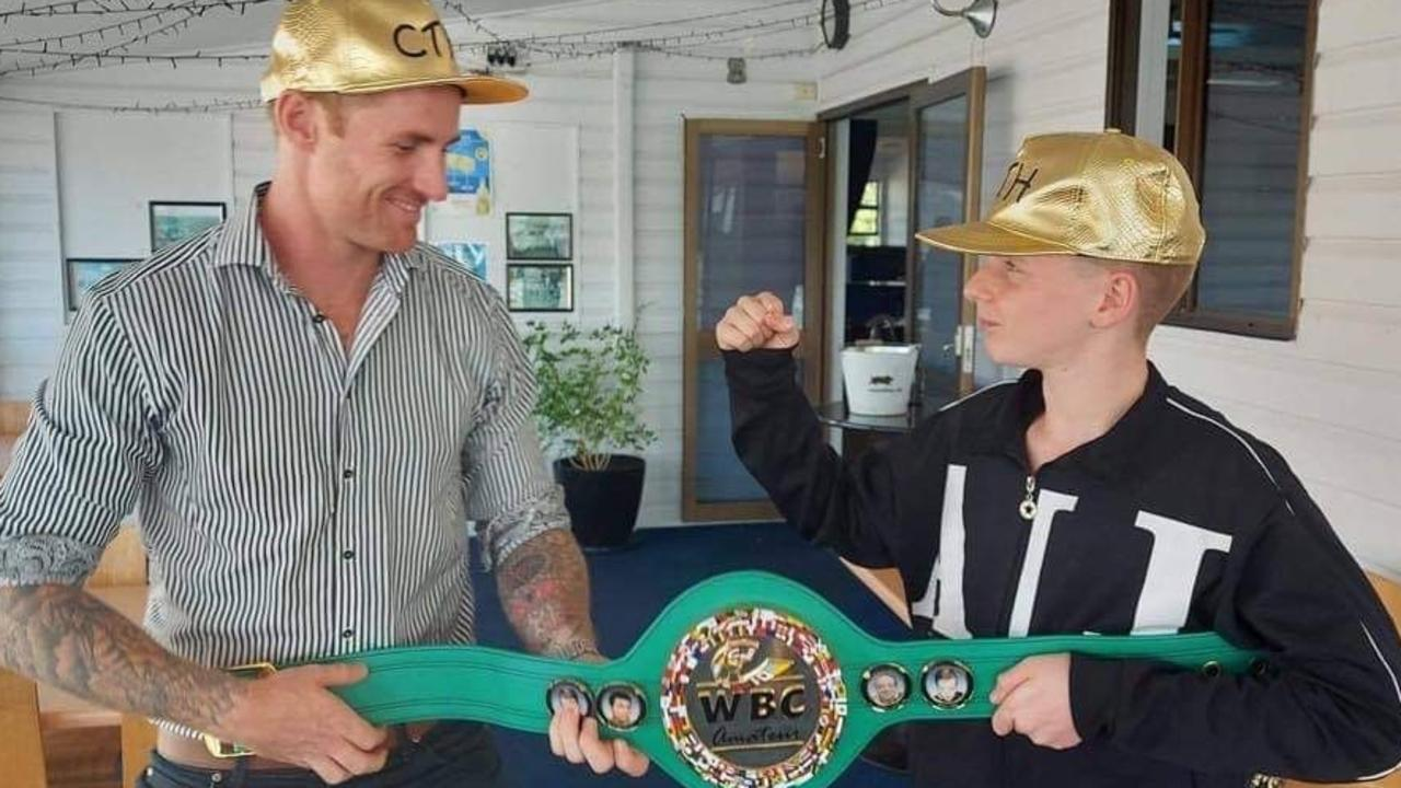 TEAMING UP: One Nation's candidate for Rockhampton Torin O'Brien is teaming up with WBC world boxing champion and anti-bullying campaigner Charlie Hall to help make schools a kinder place for children.