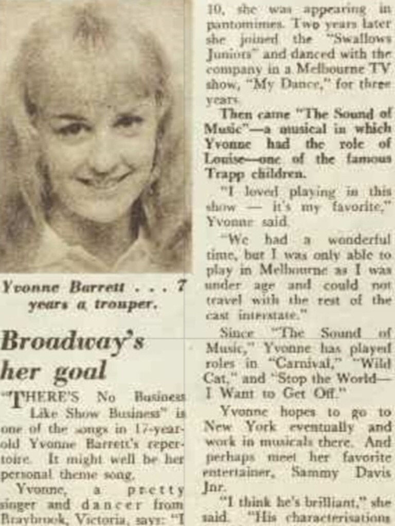 A story about Yvonne Barrett from the Australian Women's Weekly, July 1964. Picture: National Library of Australia