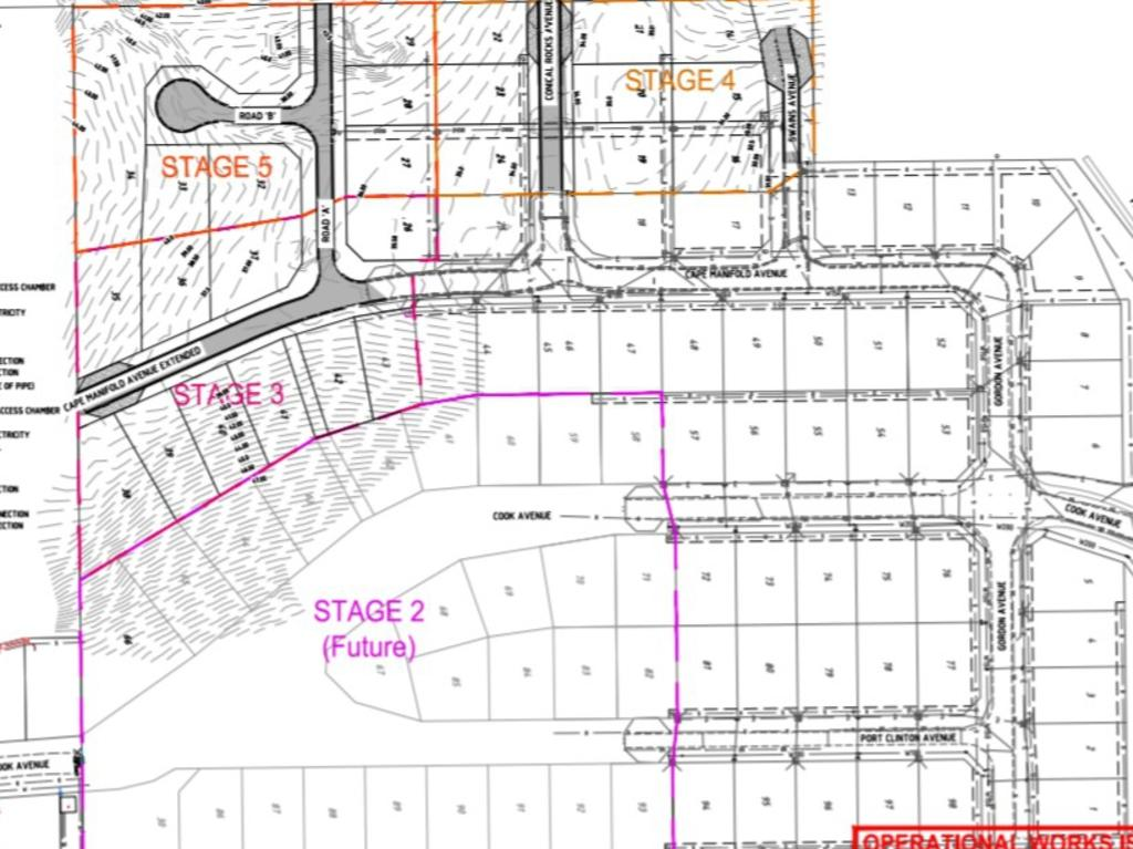 The site plan for the next stages at Yeppoon's Pacific Outlook Estate
