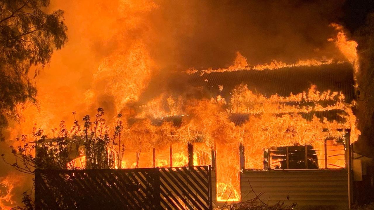 House fire Wyndham St, Roma.