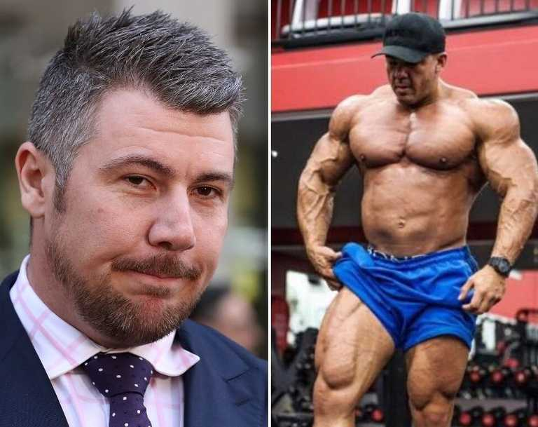 A bodybuilder once touted as Australia's next big thing has been charged with supplying cocaine to lawyer Shaune Irving.