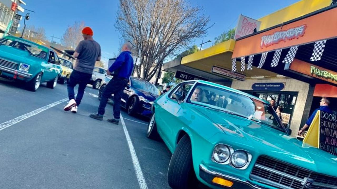 Phat Burgers co-owners Alan Wynn and Richard Steers hit the streets on Sunday, September 20 to help raise funds for Shaun McCarthy and his family.