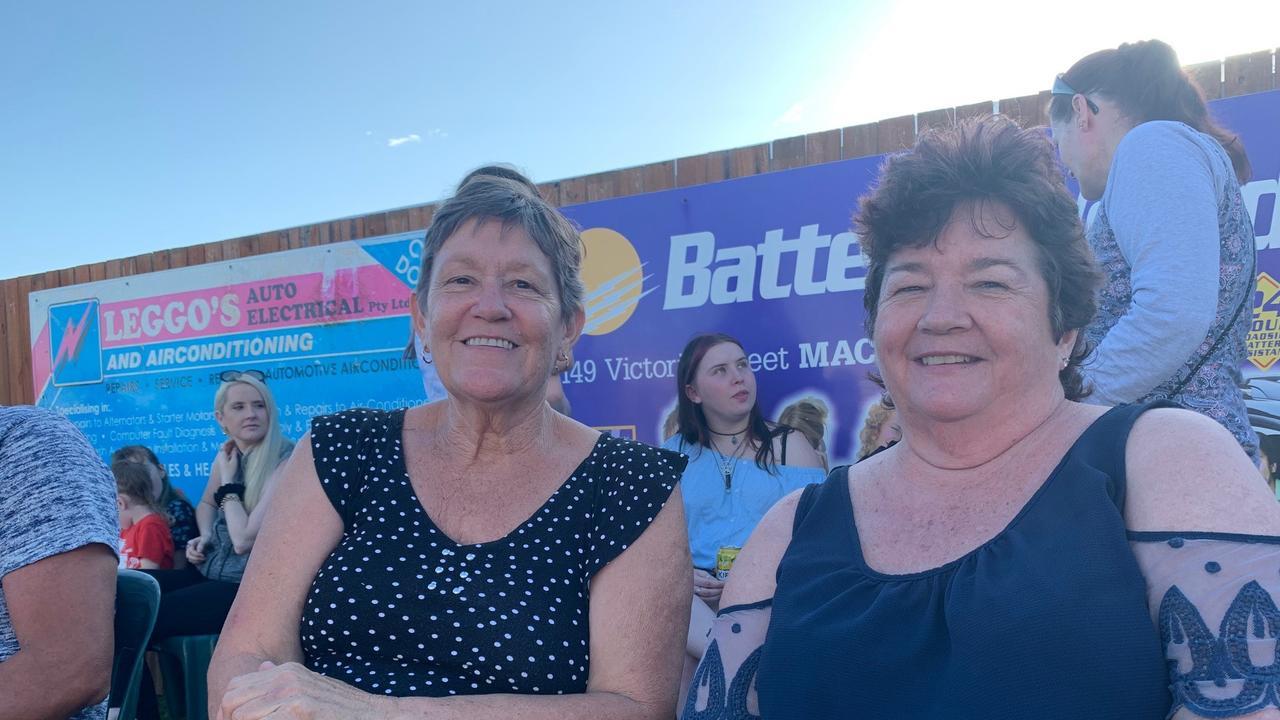 Annie Kurylko and Debbie Henman at the memorial for Chris Vella. Picture: Tara Miko