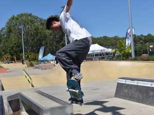 Aidan Chan 16, testing out the Sugar Bowl skatepark