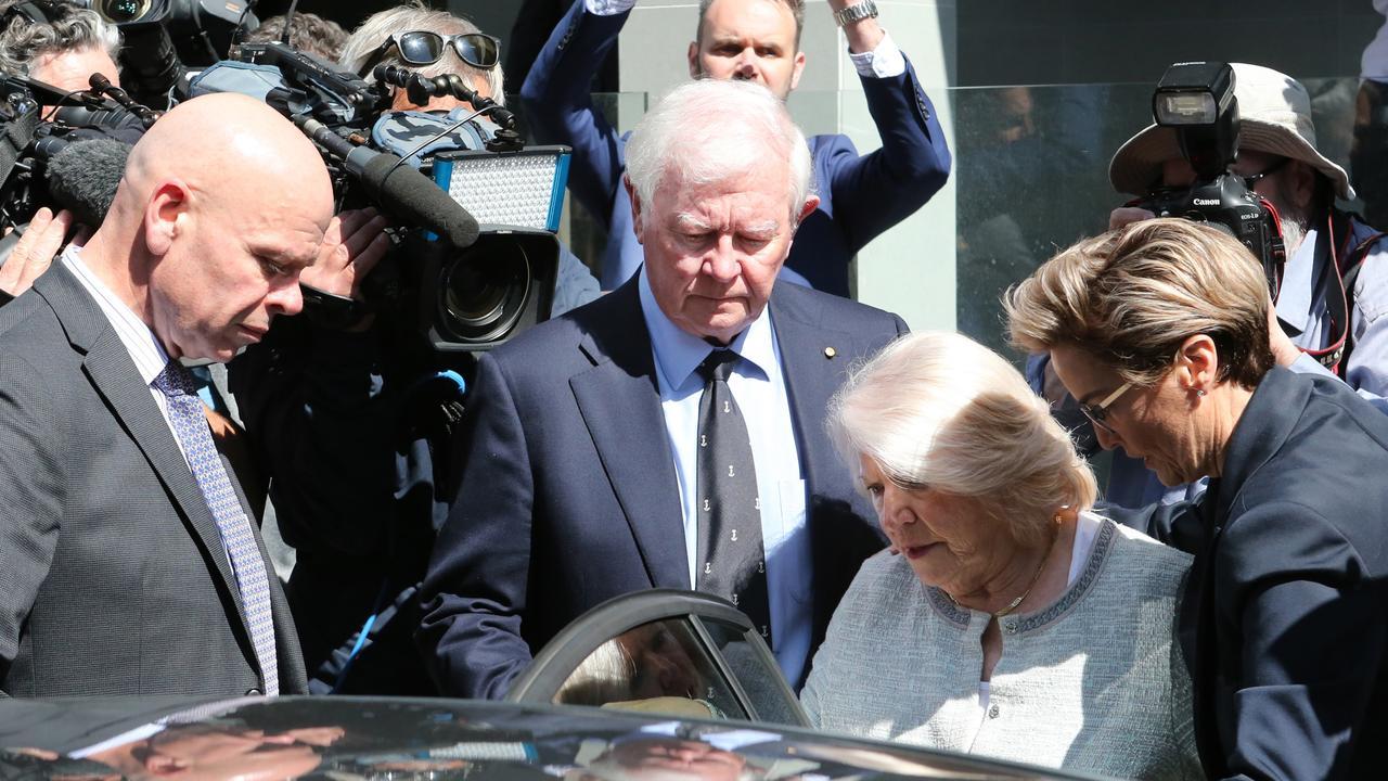 Denis and Una Glennon leave court after the verdict. Picture: Jackson Flindell/The West Australian