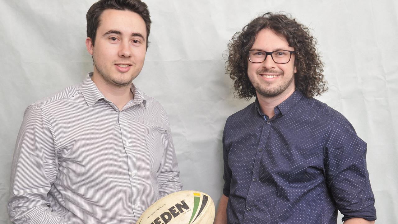 Daily Examiner sports journalist Mitchel Keenan and journalist Jarrard Potter.