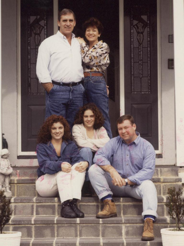 John Fahey, former NSW premier, pictured with family in 1992.