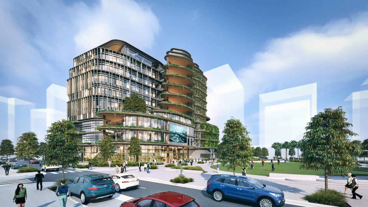 An artist's impression of Sunshine Coast Council's new City Hall building in the Maroochydore CBD.