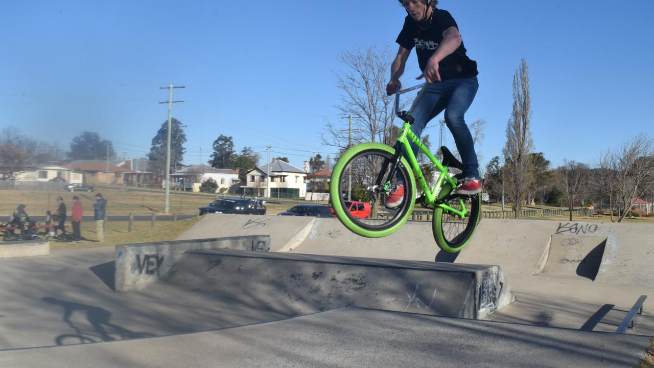 UPGRADED: Stanthorpe resident Izac Berryman at Stanthorpe skate park. Photo: Alex Nolan
