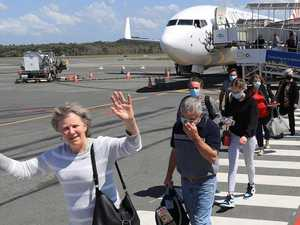First flight touches down as restrictions ease