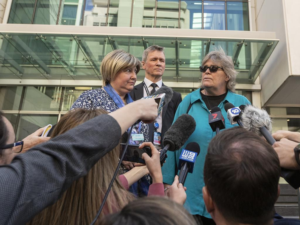 Ms Rimmer's sister Lee told reporters she hopes Ms Spiers' family is able to find closure. Picture: Will Russell/Getty Images.