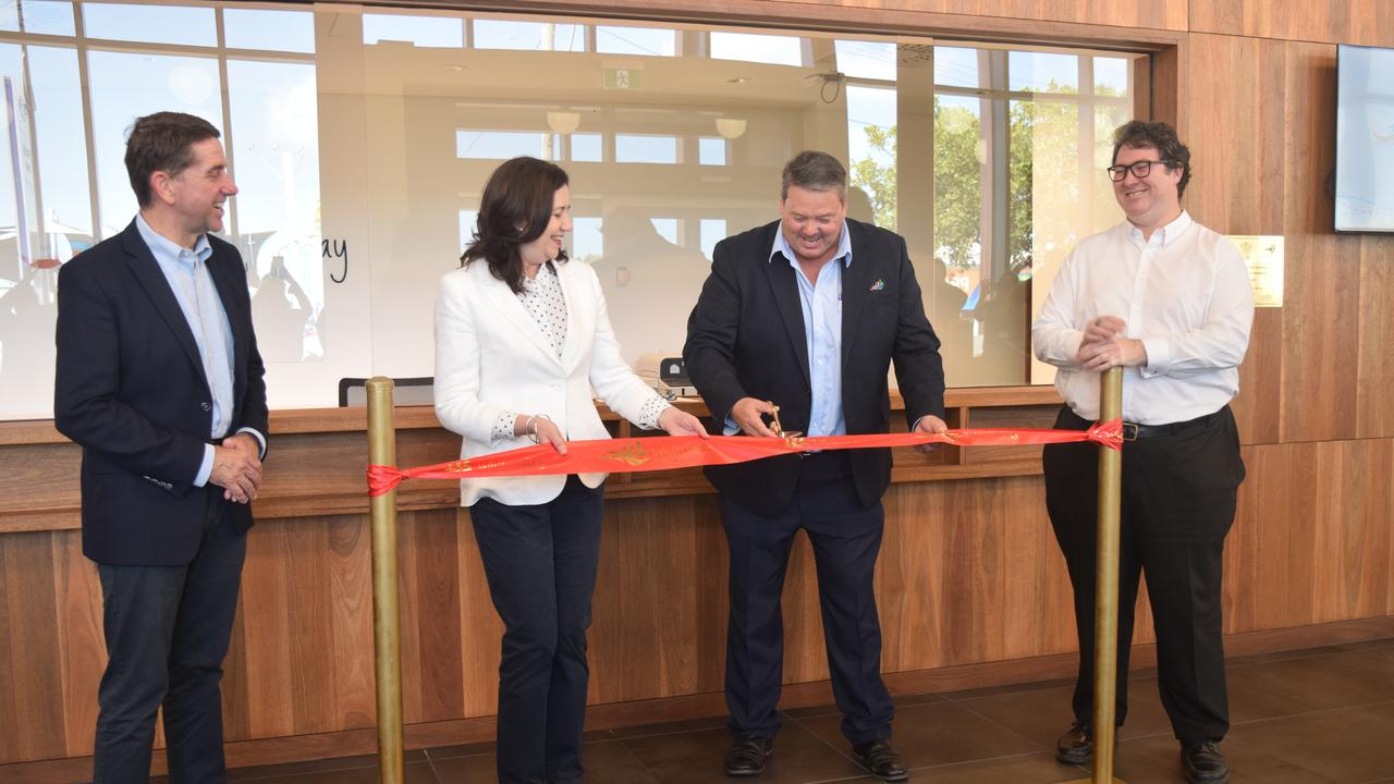 Treasurer Cameron Dick, Premier Annastacia Palaszczuk, mayor Andrew Willcox and Dawson MP George Christensen opened the Proserpine Administration Building. Picture: Laura Thomas
