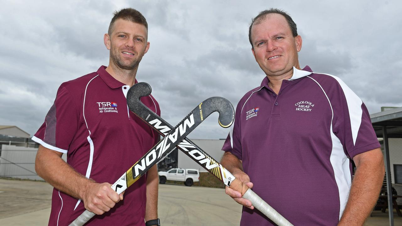 Gympie Hockey Dominic Stephens and Ben Fitzpatrick. Photo: Troy Jegers