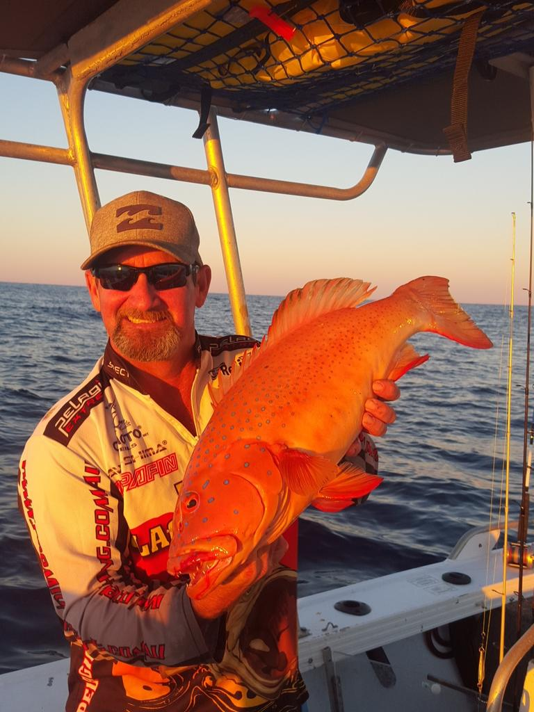 Jason Smithwick with a cracker coral trout.