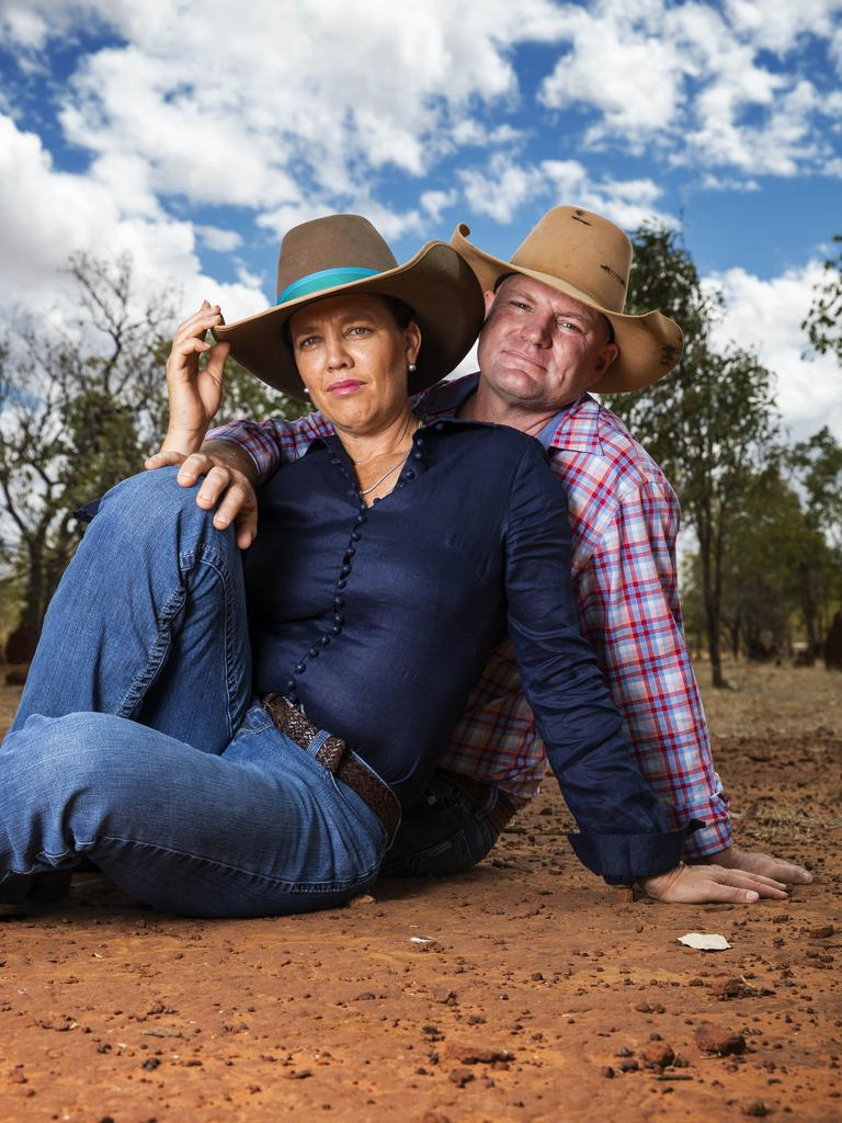 Tick and Kate Everett at home on their property outside Katherine in the Northern Territory. Photo Lachie Millard