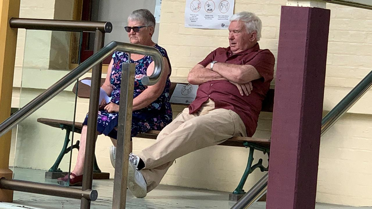 Diane Christine Wilkinson and Brendon Richard Wilkinson outside Maryborough Magistrates Court.