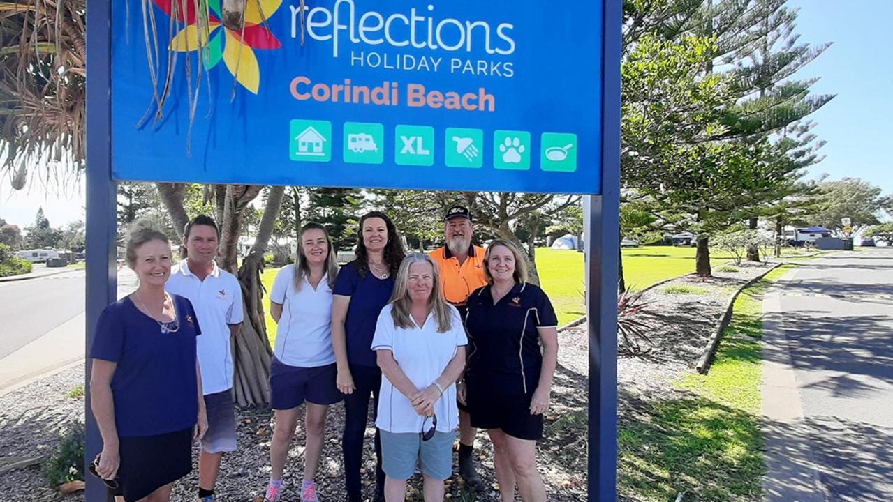 The Reflections team at Corindi Beach.