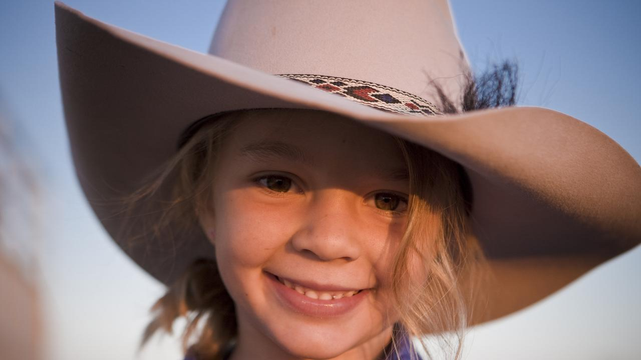 Amy Jayne Everett, in the iconic Akubra photograph.