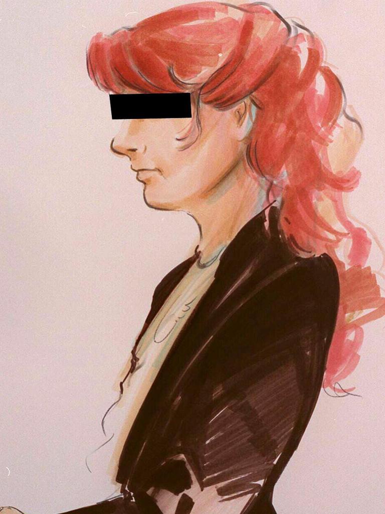 An artist impression of Angela Purvis.