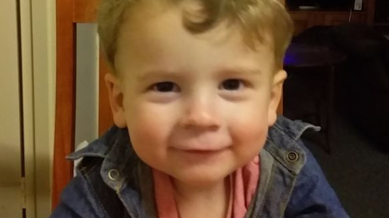 Image grab from video. Two-year-old Connor Horan died in August, 2018 from multiple head and internal injuries