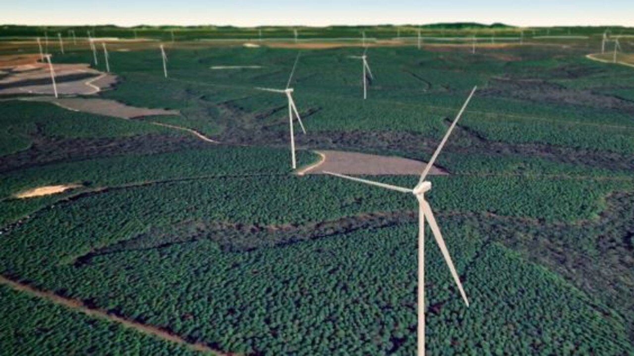 A digital concept of the proposed Forest Wind Project.