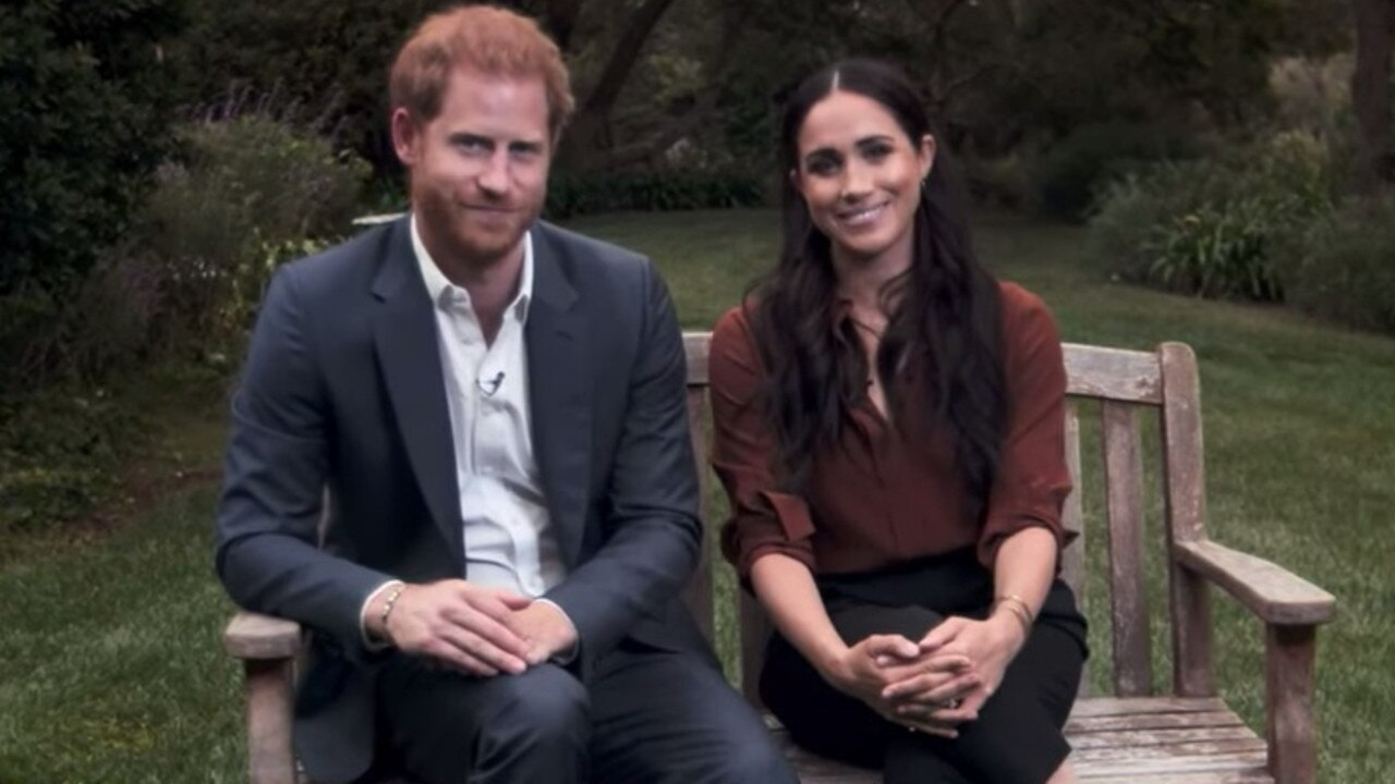 Meghan and Harry have made a few recent on-screen appearances from their new LA home. Credit: Time
