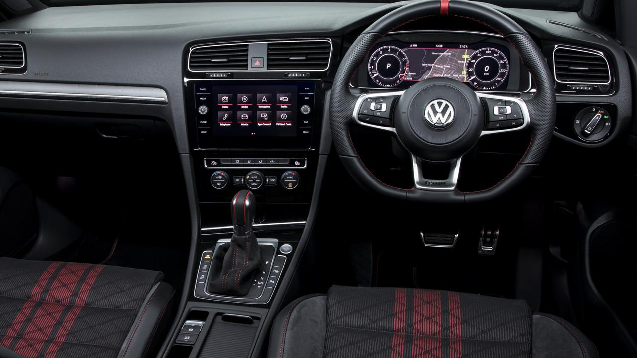 The GTI comes with VW's excellent digital dash.