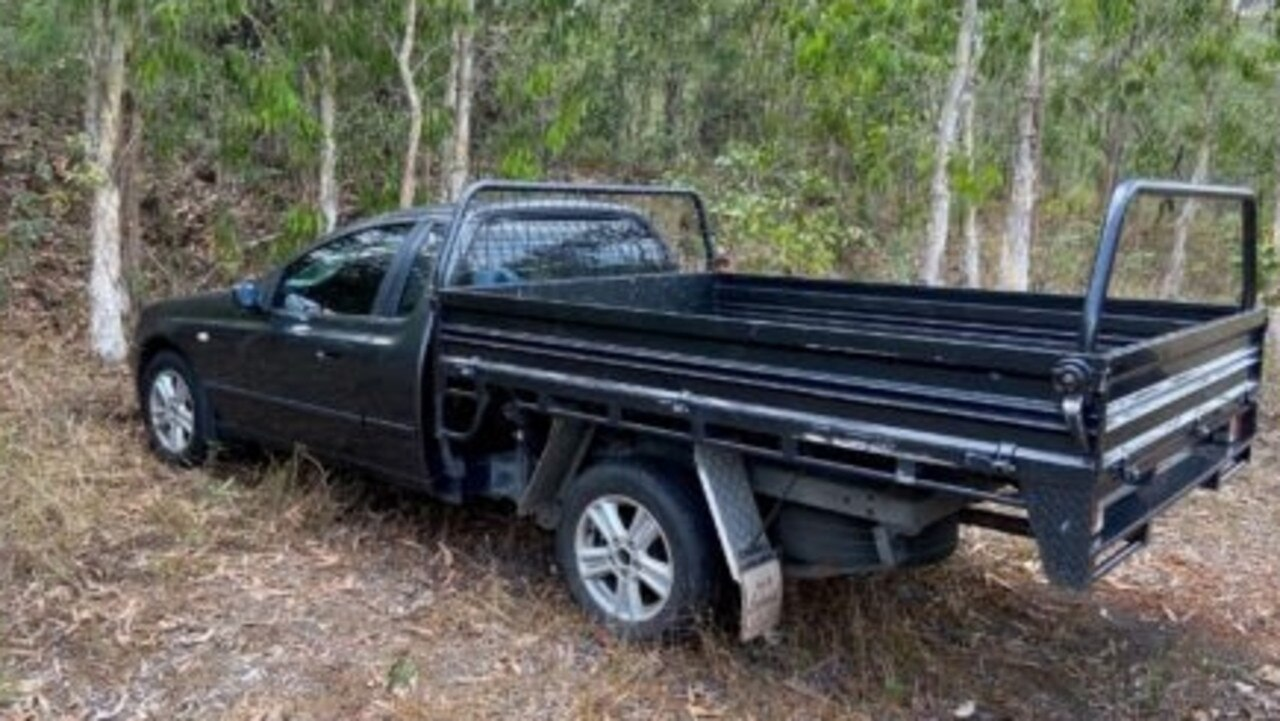 A search involving police, State Emergency Services and a helicopter begun after Ian Robertson's black 2006 Ford Falcon utility (pictured) was located on Battle Camp Road around 2pm yesterday.