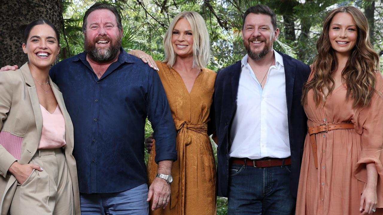 Talented bunch: Valance with fellow Australia's Got Talent judges Shane Jacobson, Sonia Kruger and Manu Feildel with host Ricki Lee Coulter. Picture: Jonathan Ng
