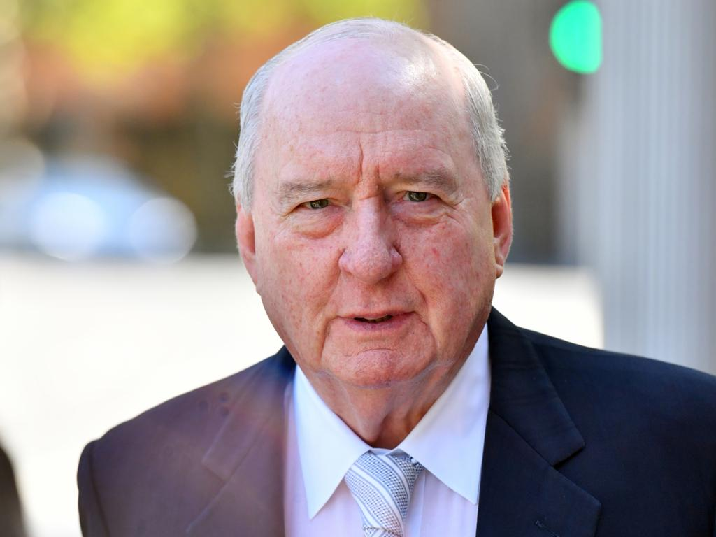 Alan Jones was among the who's who of guests attending the state funeral of John Fahey, at St Mary's Cathedral, in Sydney. Picture: AAP