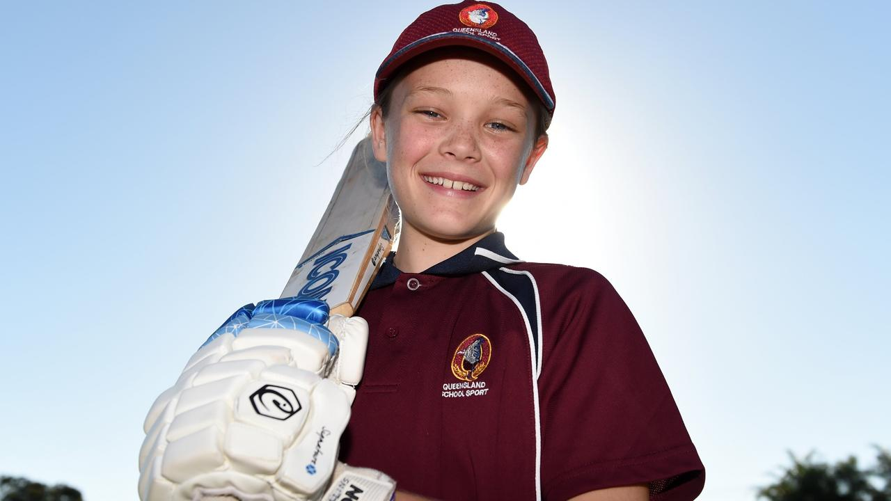 Grace Collins, who made the Queensland School Sport 10-12yrs girls cricket team for the third year in a row last year, was quick to stamp her mark for the Scorchers.