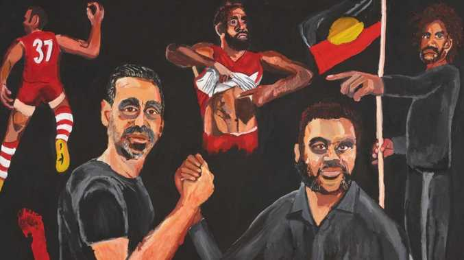 Vincent Namatjira wins Archibald Prize with Goodes portrait