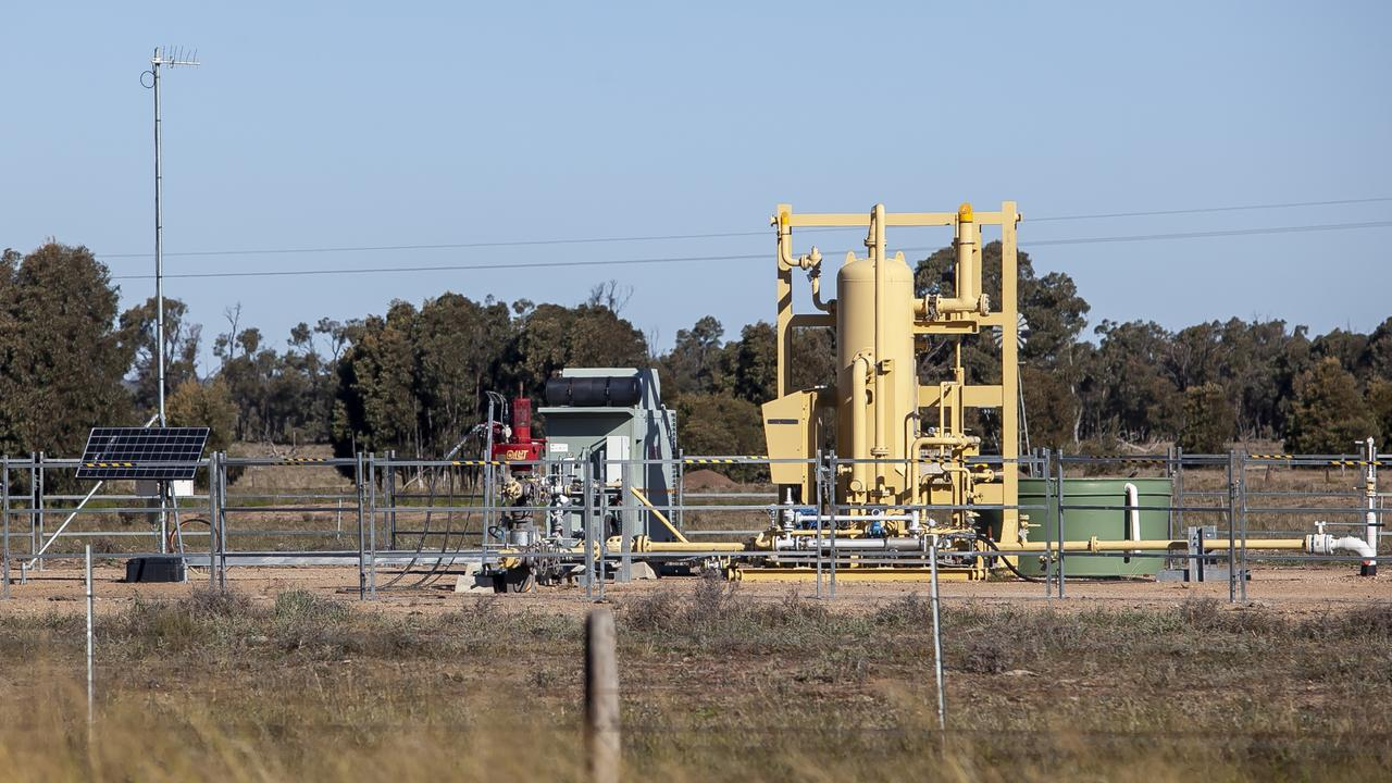 STATE ELECTION PLAN: A coal seam gas production well along the Warrego Highway west of Goombi-Fairmeadow Road, Chinchil.a. Picture: David Martinelli