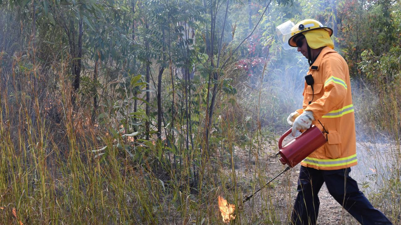 Midge Point Rural Fire Service brigades set fire to scrub in a controlled burn on Wednesday August 5. generic, QFES, RFS, cool burn. Picture: Zizi Averill